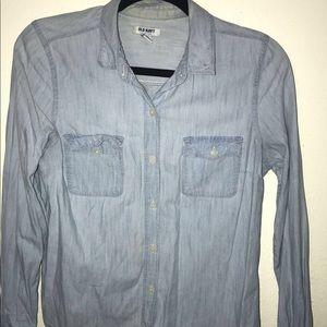 Old navy button down denim shirt